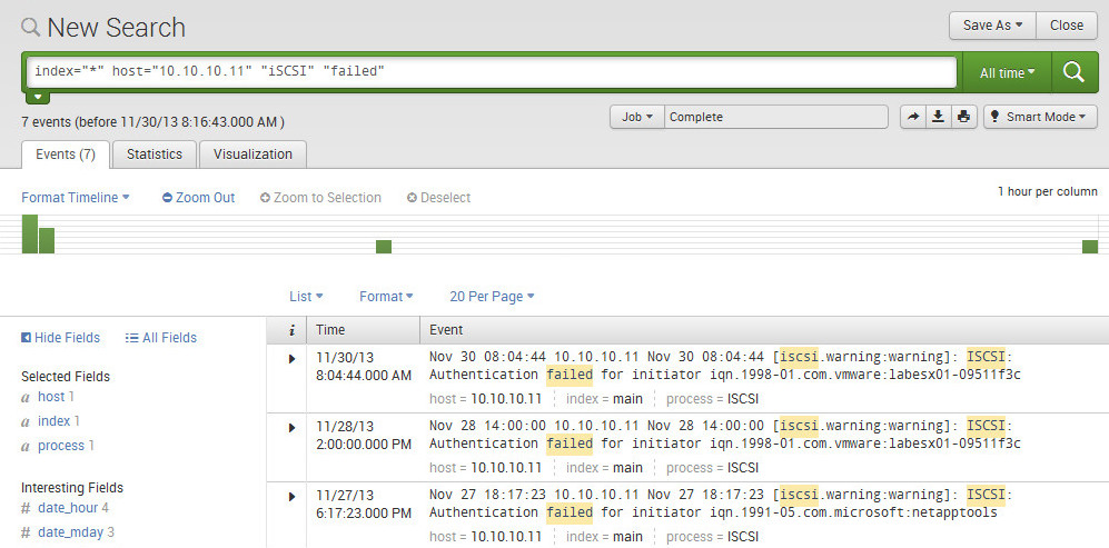 Using Wireshark and Splunk to find iSCSI CHAP Negotiation Failures