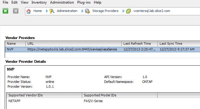 Install and Configure the NetApp FAS/V-Series VASA Provider